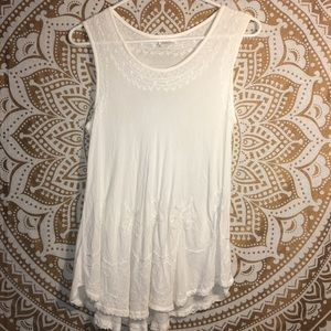 India Boutique Flowy White Shirt